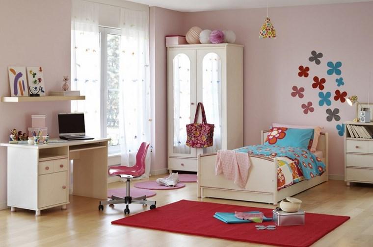 camerette bambini adesivi floreali parete