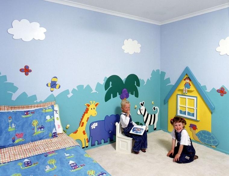 Decorazioni Per Camerette Per Bambini : Cameretta bambini colori pareti decorazioni e design moderno