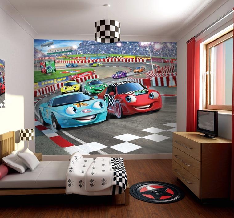 Cameretta bambini colori pareti decorazioni e design moderno for Carte da parati per camerette bambini