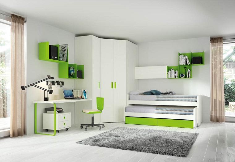 Camerette piccole e grandi idee per arredare e decorare for Scrivanie angolari per camerette