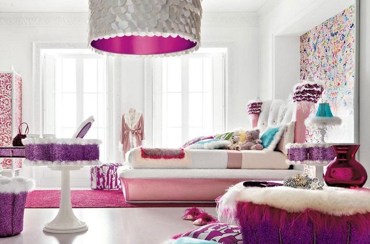 camerette per ragazze colori stoffe tendenza