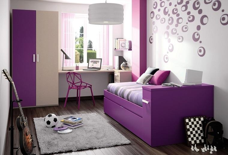 camerette per ragazze letto divano