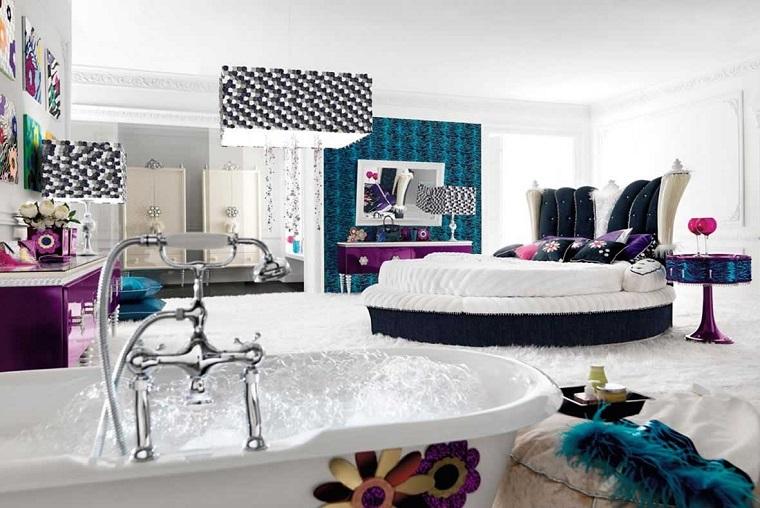 camerette per ragazze moderna vasca bagno