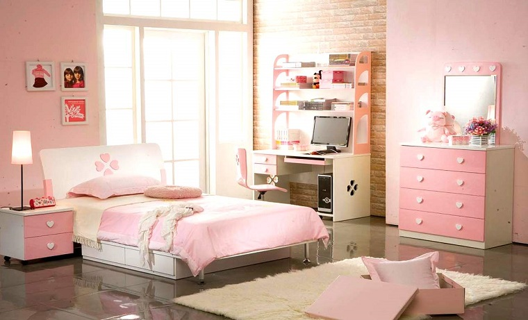 camerette per ragazze rosa confetto