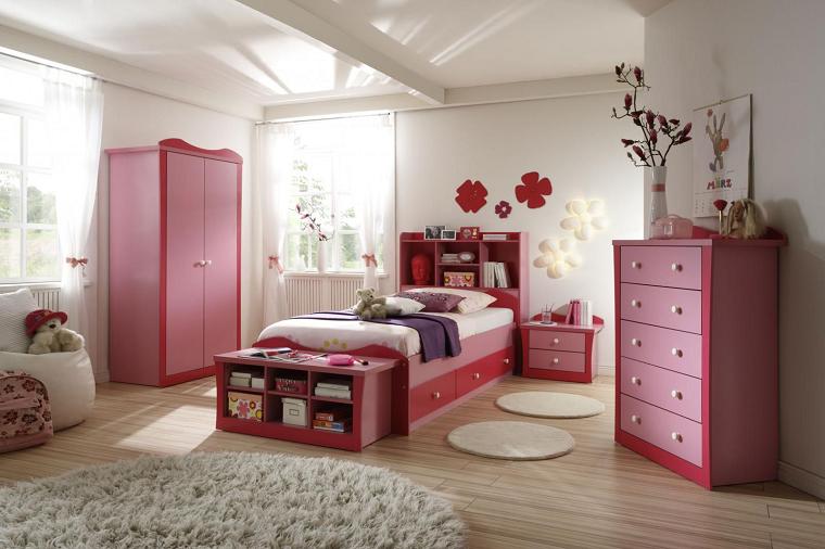 camerette per ragazze vani contenitore letto