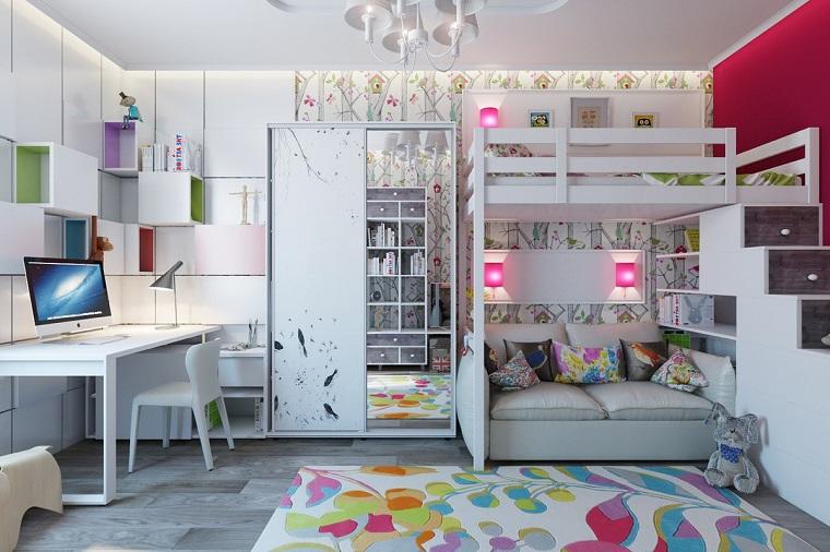 Camerette piccole e grandi idee per arredare e decorare for Camerette piccole per ragazze