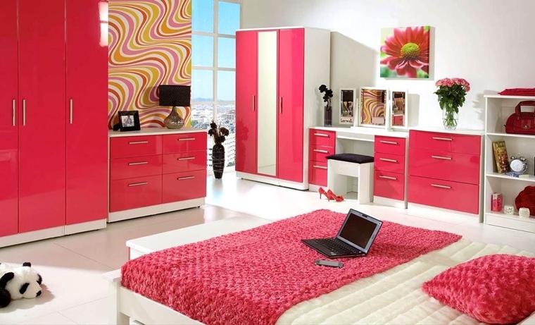 camerette ragazze adolescenti colore rosa