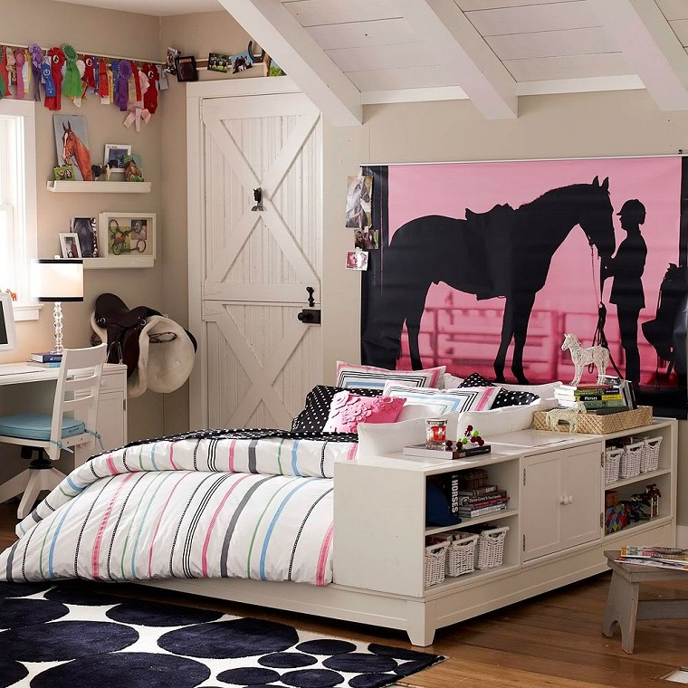 camerette ragazze idea amanti cavalli