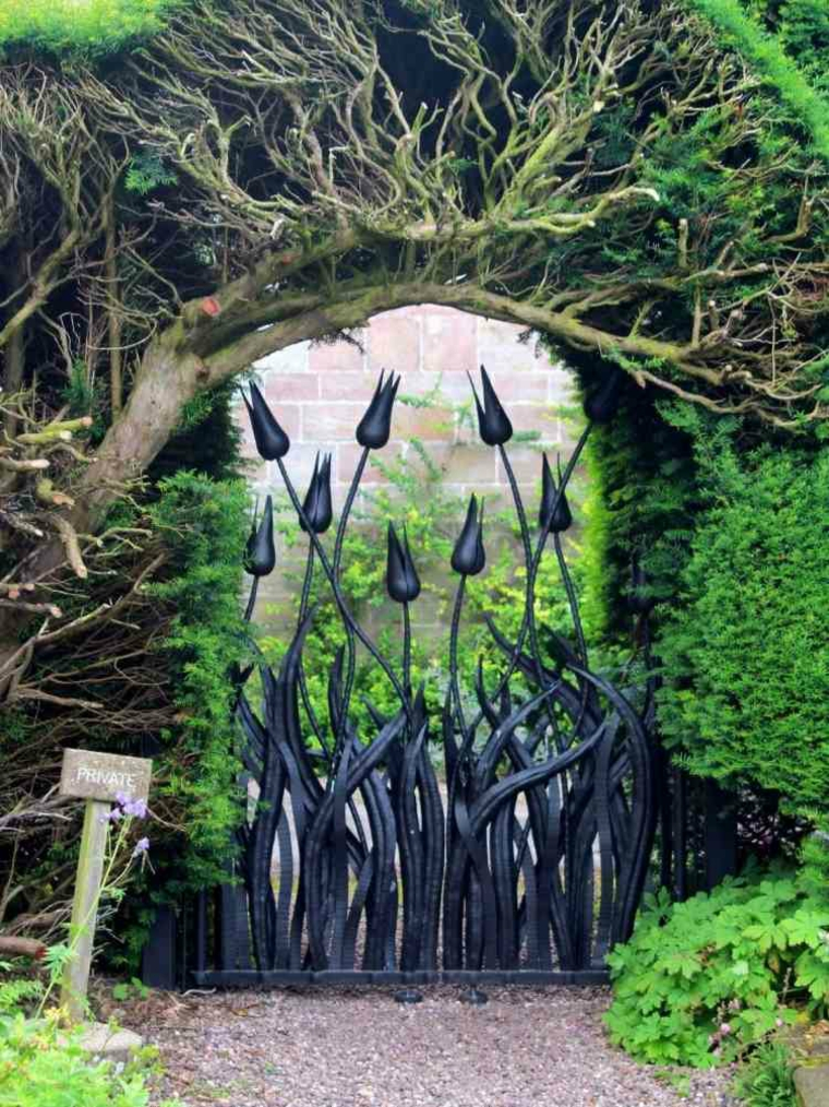 Cancelli tante idee per la vostra porta da giardino for Essere minimalisti