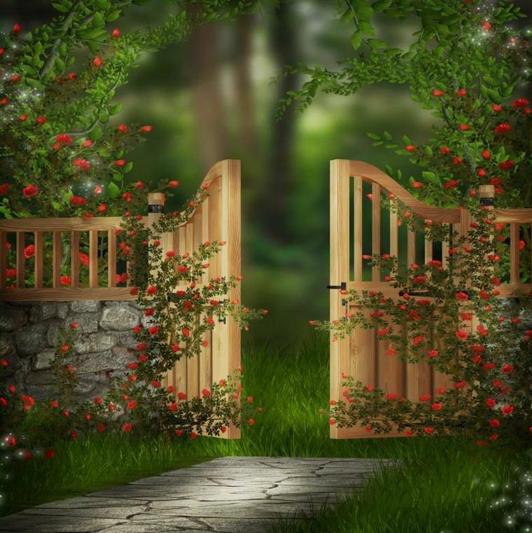 Cancelli tante idee per la vostra porta da giardino for Cancelli di legno per giardino
