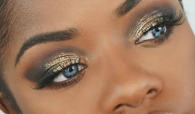capodanno trucco glitter occhi ombretto
