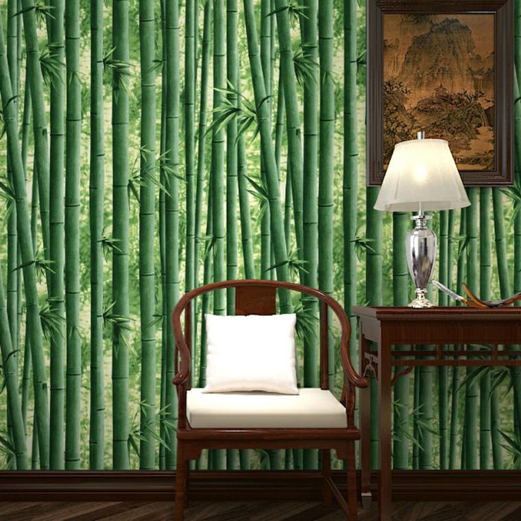 carta da parati bambù salotto