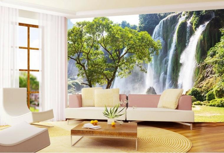 Carta da parati per arredare le pareti in soggiorno - tantissime ...