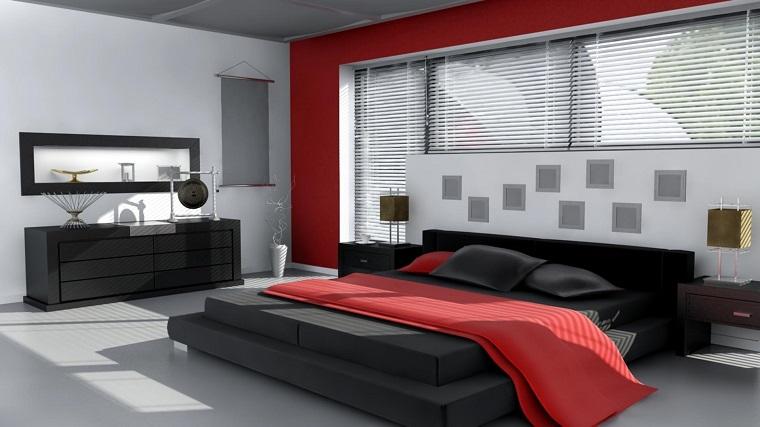 Pareti Grigie E Rosse : Idee arredo casa in bianco nero e grigio per uno stile sobrio ed