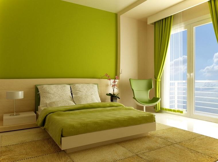 Colore Parete Camera Da Letto Verde : Colori pareti camera da letto idee eleganti e raffinate archzine
