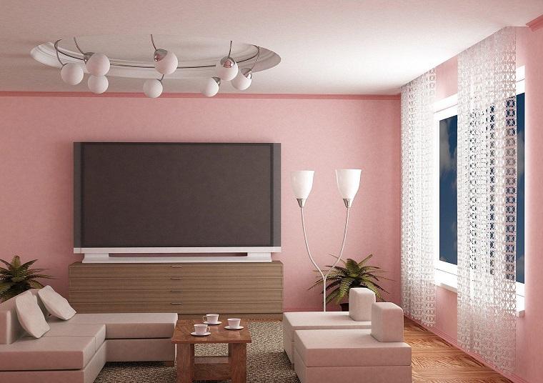 colori pareti rosa arredamento moderno