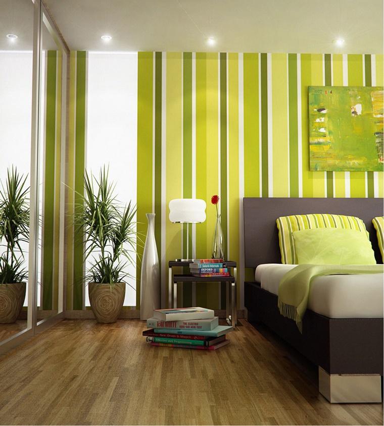 colori per pareti combinazione verde altri toni