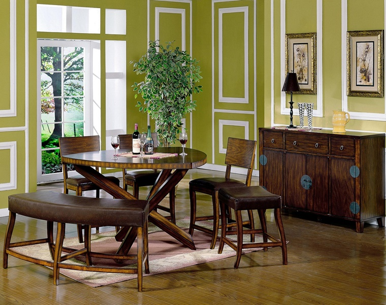 colori per pareti verde bianco soggiorno rustico moderno