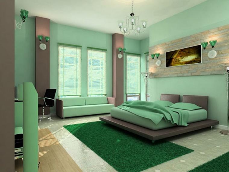 colori per pareti verde chiaro biancheria letto