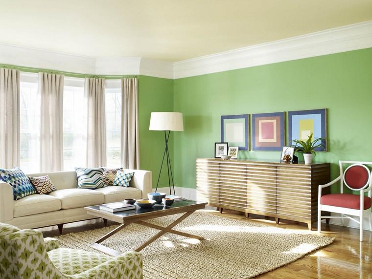 colori per pareti verde soffitto bianco