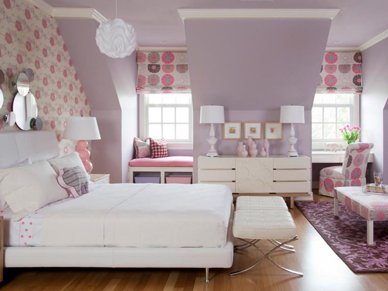 colori per pareti viola chiaro cameretta