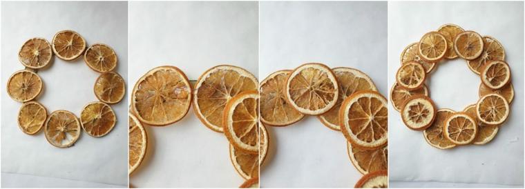 come abbellire una ringhiera esterna festone con fette di arancia essiccate