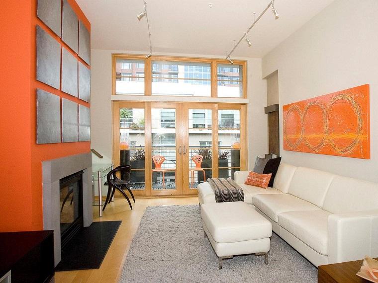 come arredare un soggiorno stretto lungo stile contemporaneo
