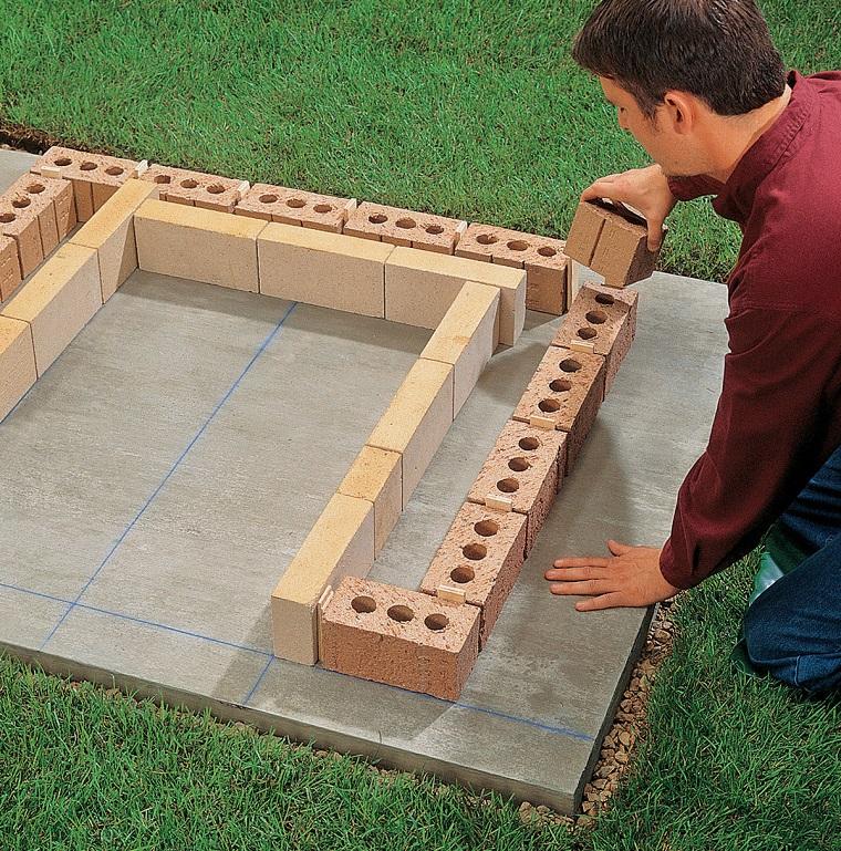 come inizia costruzione barbecue giardino