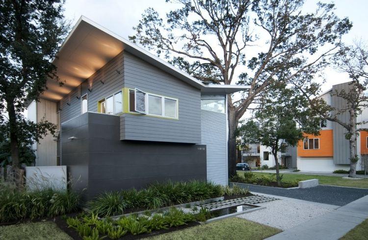 cortile anteriore piccolo giardino design speciale