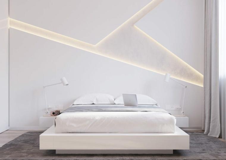 cosa mettere sopra il letto matrimoniale pannello illuminazione tappeto finestra tende