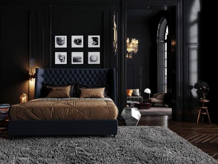 cosa mettere sul como della camera da letto moderna cornici foto lampada tappeto