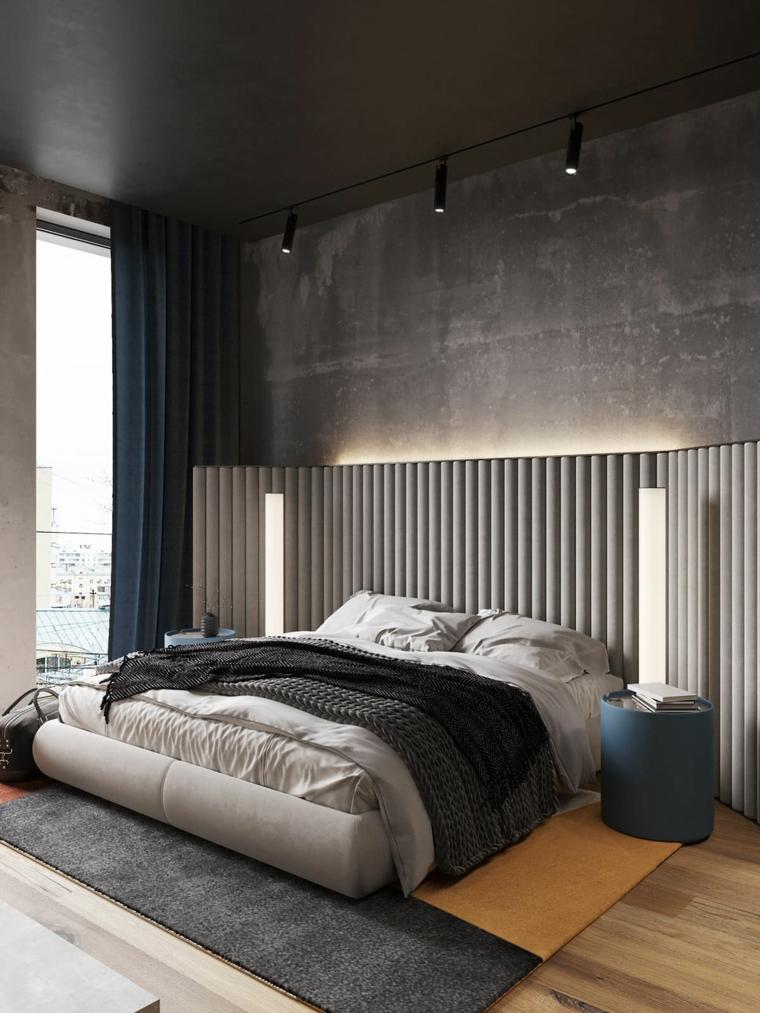 cosa mettere sul como della camera da letto moderna lampada libri testata cuscini coperte