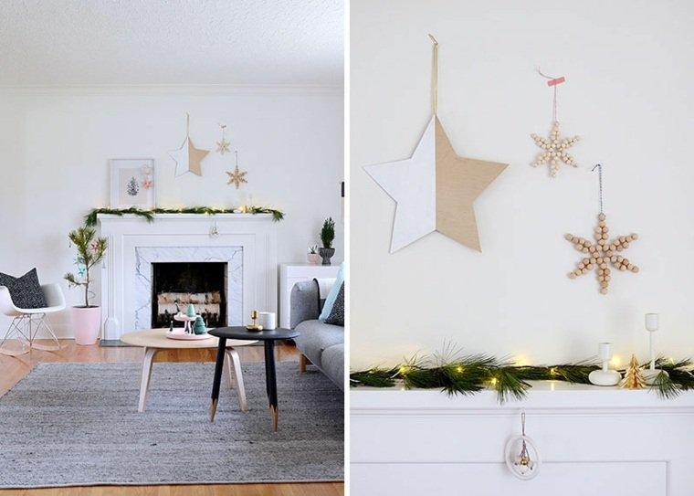 creazioni natalizie decorare camino feste