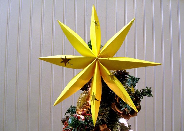 creazioni natalizie stella albero carta