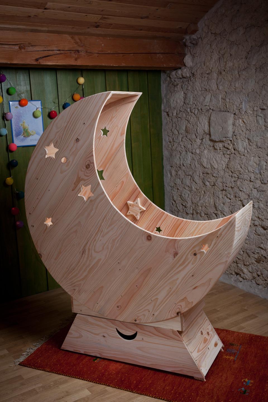 Costruire Culla In Legno.Culle Neonati In Pallet A Forma Di Mezza Luna Sogni D Oro