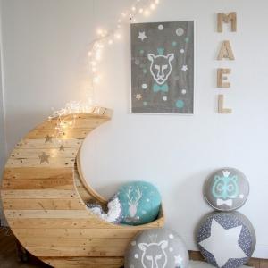 Culle neonati in pallet a forma di mezza luna: sogni d'oro assicurati!