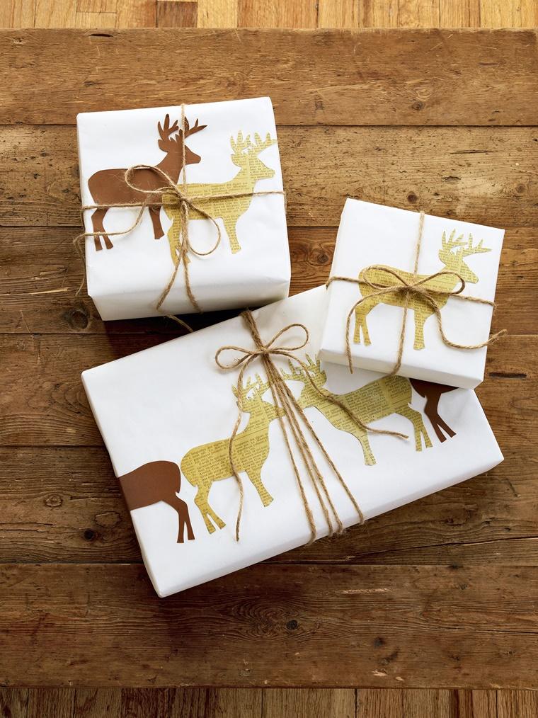 decorazione elegante color oro pacchetti regalo