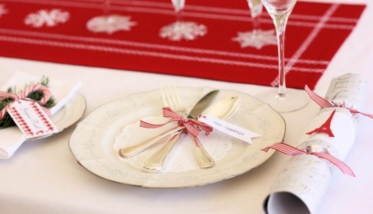 decorazioni bianco rosso addobbare tavola