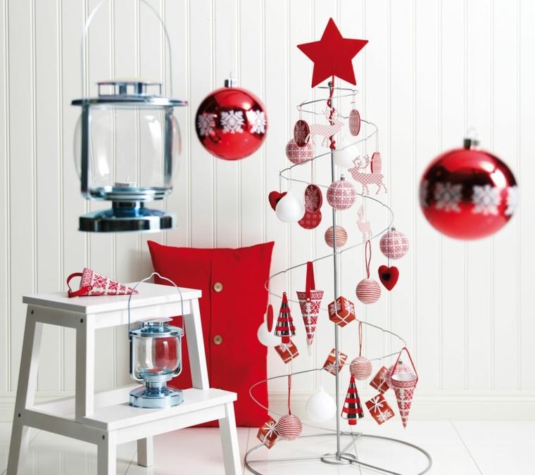 decorazioni natale colore bianco rosso