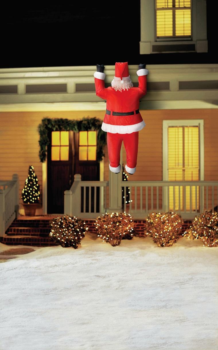 decorazioni natalizie fantoccio babbo natale