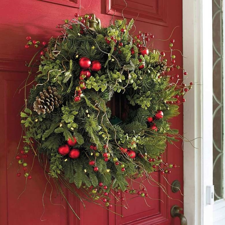 decorazioni natalizie porta casa ghirlande meravigliose