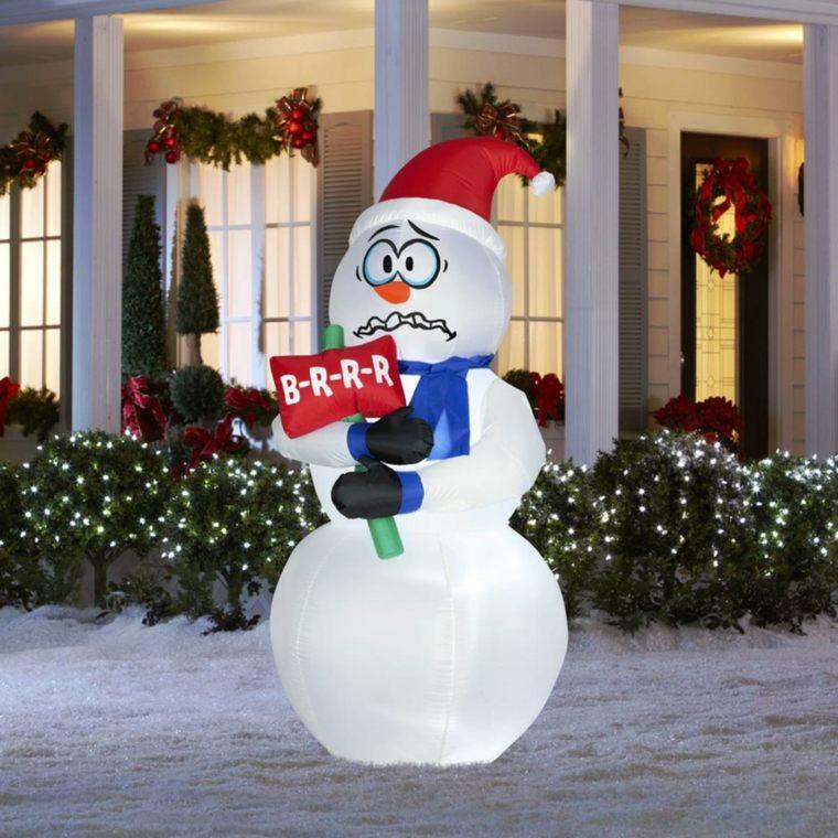 decorazioni natalizie pupazzo neve giardino