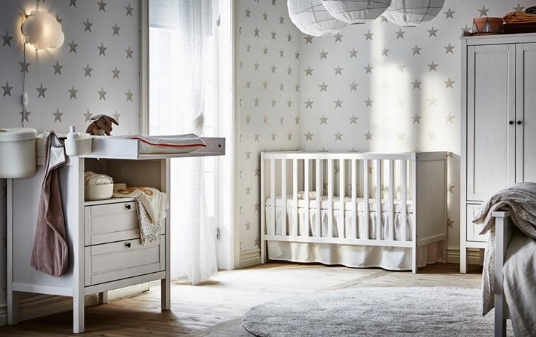 Idee Pareti Cameretta Neonato : Arredamento camerette: idee creative per il nido dei bambini