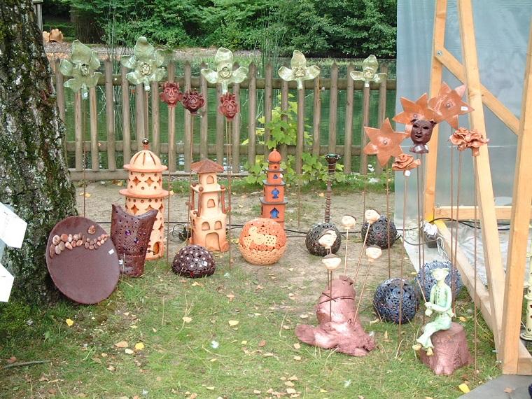 Oggetti in ceramica decorazioni adorabili per il - Idee decorazioni giardino ...