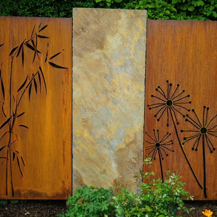 Pareti divisorie da giardino in acciaio corten belle di for Divisori da giardino