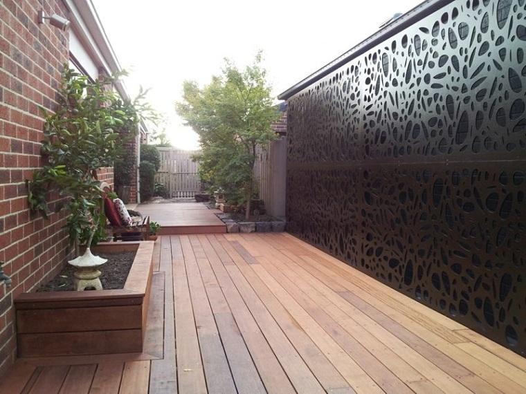 Pareti divisorie da giardino in acciaio corten belle di for Divisori da giardino in plastica