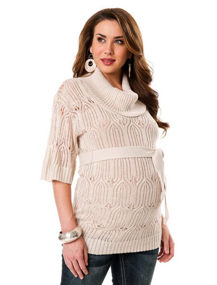 donna incinta vestita maglione premaman