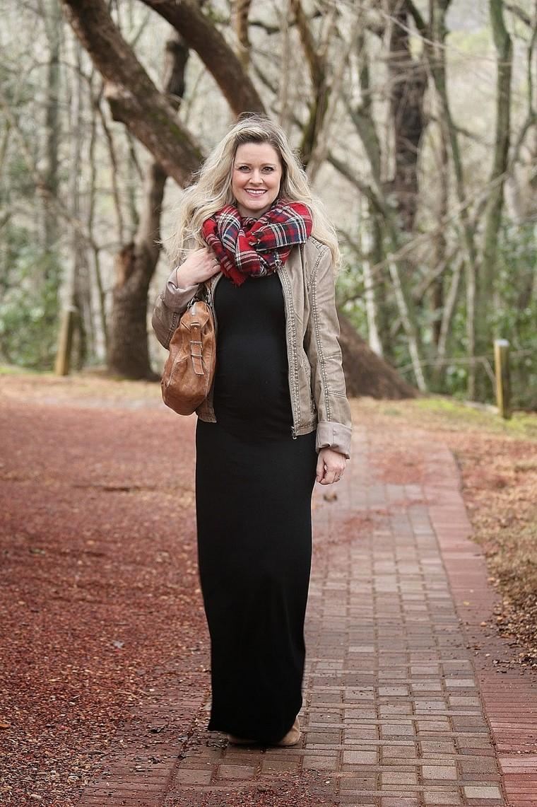 donne gravidanza inverno vestite moda