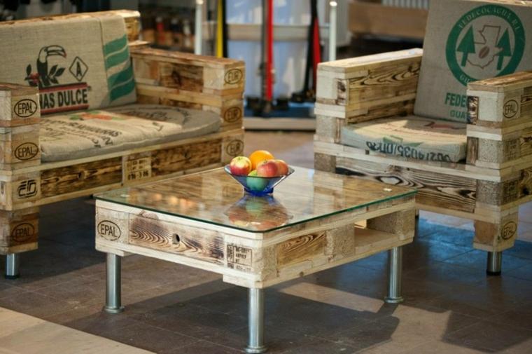 europallet tavolino legno riciclo bancali