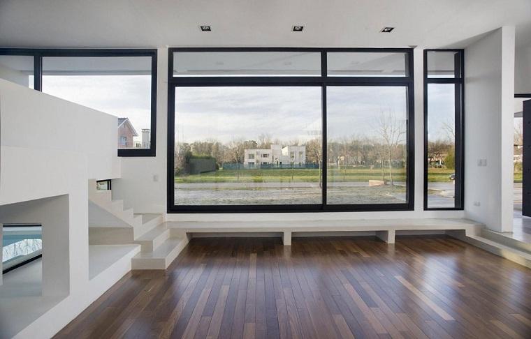 finestre architettura moderna bordata nero